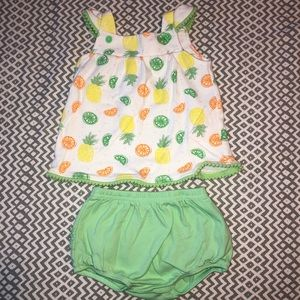 Baby Girl Lime Green Two Piece
